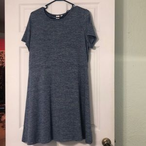 Gap Blue A-line dress- only worn once!